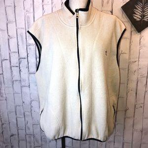 Vintage fleece zip up Champion vest